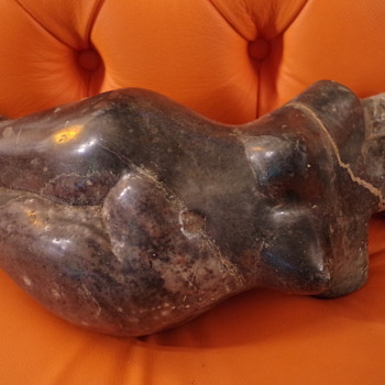 EROTIC AFRICAN HARDSTONE ? SCULPTURE LARGE WEIGHTY CARVED PIECE   - Fine Art