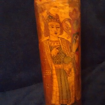 please help me identify this old painted bottle - Bottles