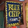 Vintage Blue Chip Stamps Flange Sign