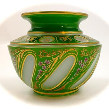 Josephinenhütte Cut-to-Clear vase designed by Alexander Pfohl, ca. 1927 - Art Glass