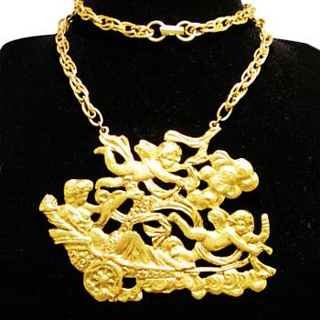 Vintage Signed ART Greek Mythology Necklace