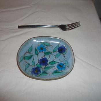Handpainted Art Dish - Pottery