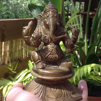 Vintage Brass Ganesha Statue.