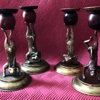 1977 Arthur Court Designs Handstandles  - Lamps