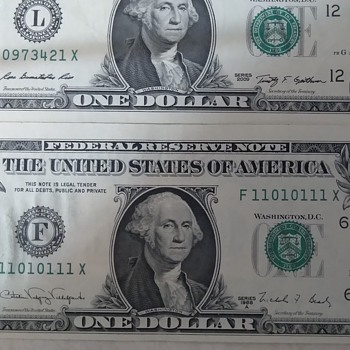 High  block binary repeater 1988A series  - US Paper Money