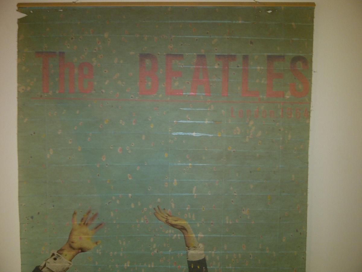 Rare Beatles London 1964 Wall Banner
