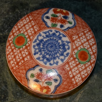 Imari Covered Box - Chinese? - Pottery
