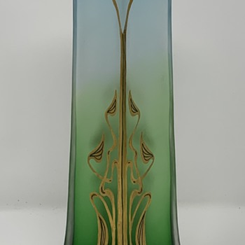 Jugendstil Glass Vase, Josephine Glass Works, Julius Camillo de Maess design for Paris Expo, ca. 1899-1900 - Art Glass