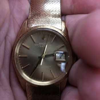 Rolex Oyster perpetual ,Date Just solid 14 Kt gold 97 grams has band I can't find? - Wristwatches
