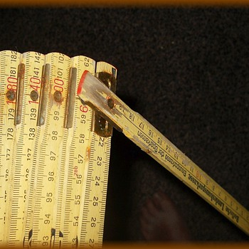 Vintage German ?? Wooden folding Ruler - Tools and Hardware