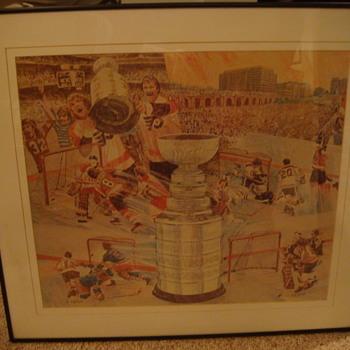 """Vintage  """"Philadelphia Flyers""""  Stanley Cup Print - Hockey"""