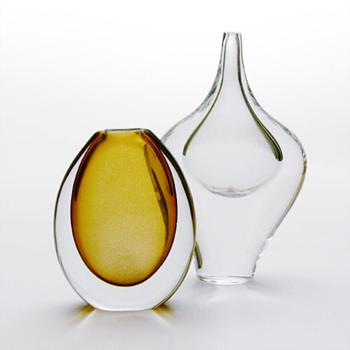 Two Swedish vases, 1950s - Art Glass