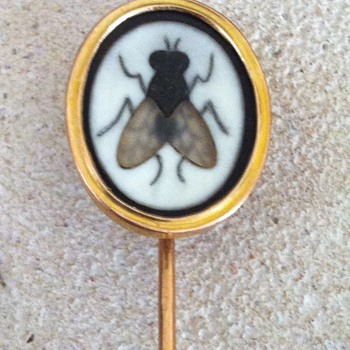 Pietra dura fly stickpin. - Fine Jewelry