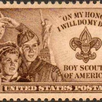 "1950 - ""Boy Scouts"" Postage Stamp (US) - Stamps"