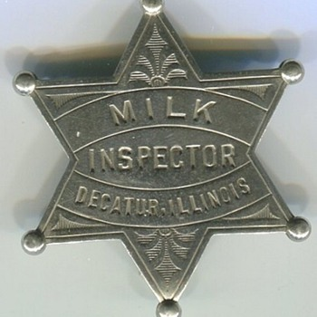 Milk Inspector Badge - Medals Pins and Badges