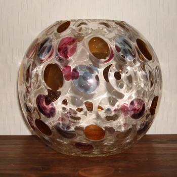 Czech glass Borske Sklo vase - Art Glass