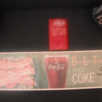 Coke Note Pad & Coke Menu Sign - Coca-Cola