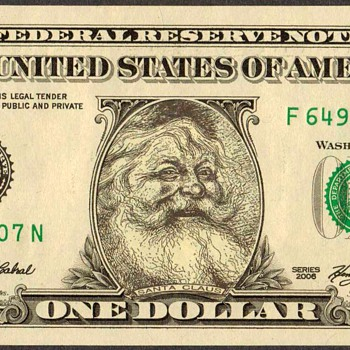 """Santa Claus"" Novelty Bank Note - US Paper Money"