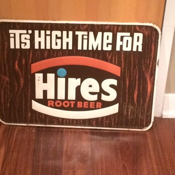VINTAGE HIRE'S ROOT BEER SIGN, NEILSON'S JERSEY MILK CHOCOLATE SIGN, KAYO CHOCOLATE SODA! AWESOME!