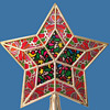 Early 1970's Psychedelic Star Shaped Christmas Tree Topper in Box