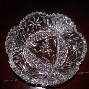 two piece of cut glass