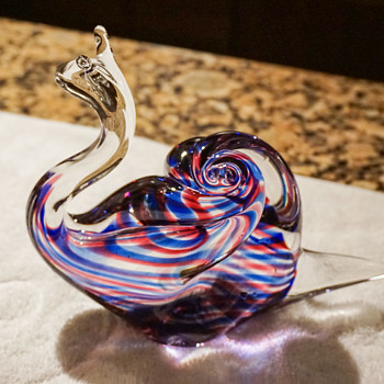 Roberto Moretti Signed Glass Snail