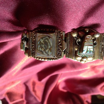 Antique Mexican Silver Bracelet - Fine Jewelry