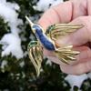 Trifari Bird in Flight - Mockingbird