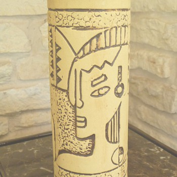 Mid Century Pottery Abstract Mystery Vase - Pottery