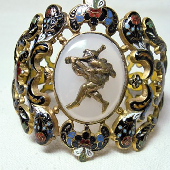 Antique Swiss Enamel Bracelet - Fine Jewelry