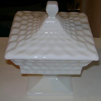 Fostoria Milk Glass Dish - Glassware