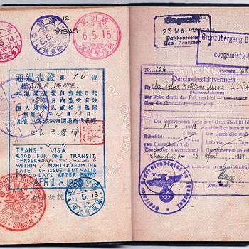 German visa from Shanghai inside a British passport