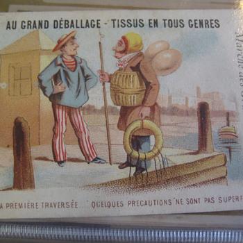 trade cards printed around 1870   - Advertising