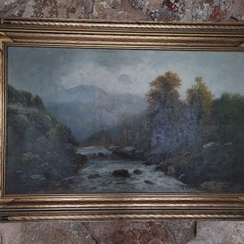 1900s Oil Painting  by Wilhelm Olbrich - Fine Art