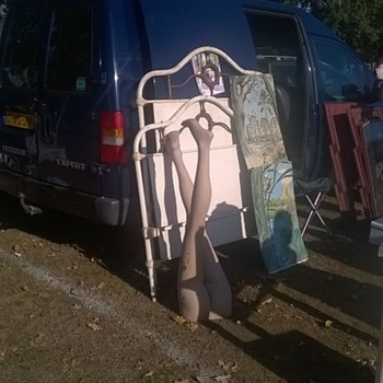 Car Boot Flea Market Today in Heythusen, Netherlands - Photographs