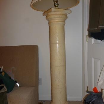 Greek/Roman Column lamp faux marble - Lamps