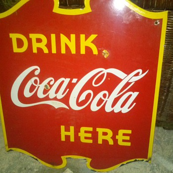wow from 1940 Canadian Coca-Cola flange sign - Coca-Cola