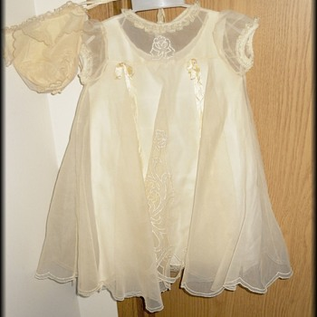 My vintage Baptism Gown - Baby Antiquerose (  Christening Gown )  - Womens Clothing