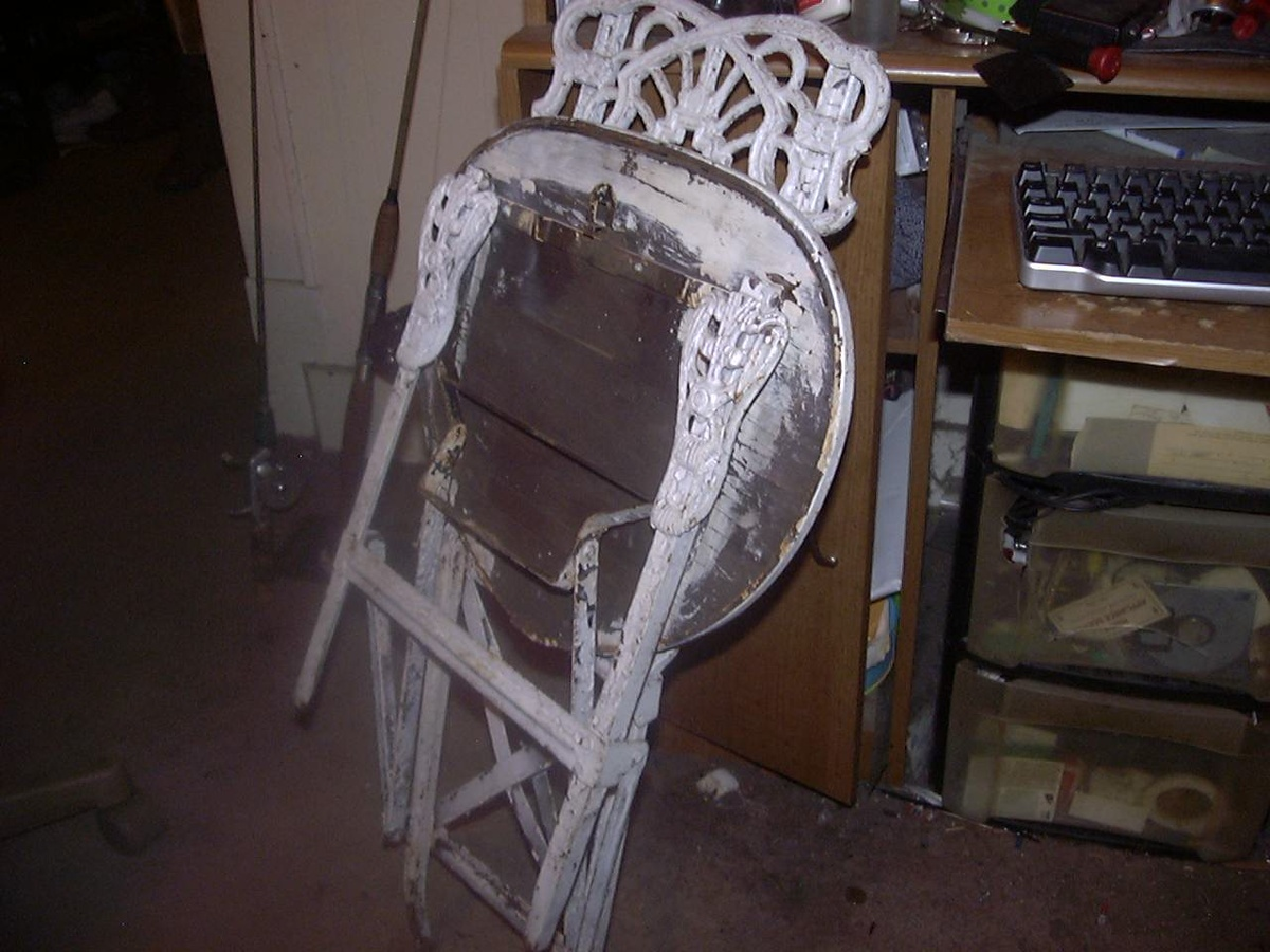 prodigious Folding Wrought Iron Chairs Part - 6: Collectors Weekly