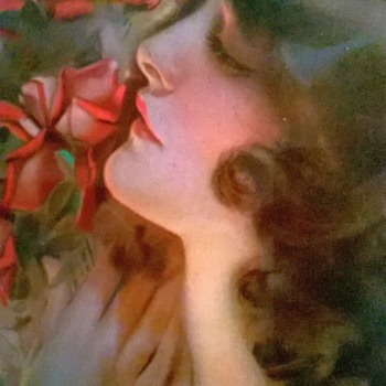 "Rolf Armstrong Print ""Only A Rose"" From His Original Painting Done In 1919. - Fine Art"