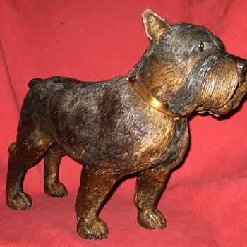 Life-Size Bronze Terrier Sculpture - Animals