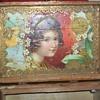 HANDCARVED ST NICK CIGAR BOX THEO MUELLER MN