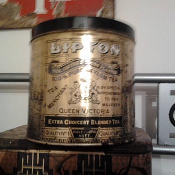 Lipton Tea Tin - Advertising