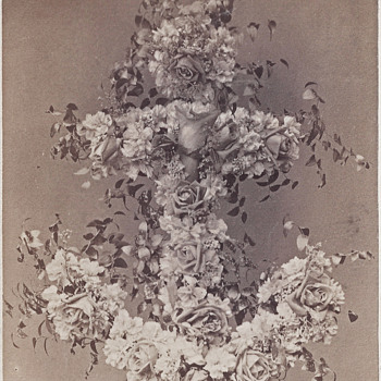 Mourning Floral Arrangement CDV by Cummings of Lancaster, PA - Photographs