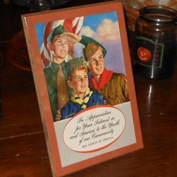 BSA Scout Appreciation Plaque 1956 - Sporting Goods