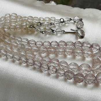 Double strand crystal necklace  - Costume Jewelry