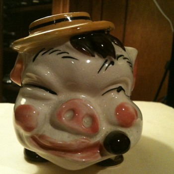 Piggy Bank with Hat and Cigar - Animals