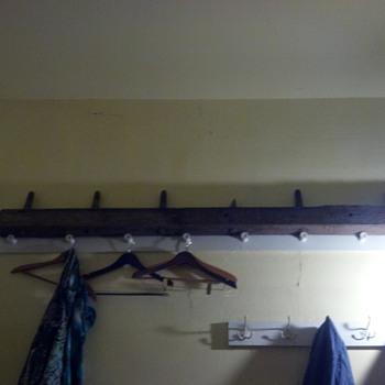 insulator holder cross member of old telephone pole 10-12' length - Telephones