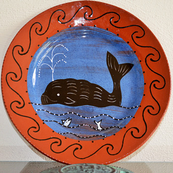 Decorated Redware Plate - Pottery