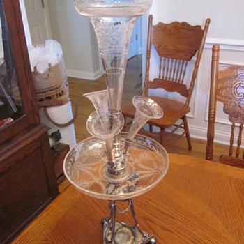 Silver Epergne....garage sale find! - Kitchen